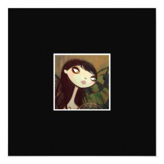 """Dark Fairy Tale Character 5 5.25"""" Square Invitation Card"""