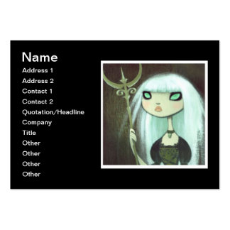 Dark Fairy Tale Character 6 Business Card Template