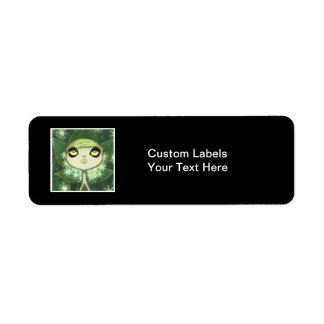 Dark Fairy Tale Character 7 Return Address Label