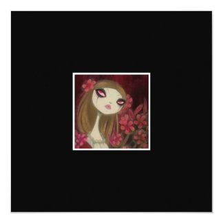 """Dark Fairy Tale Character 8 5.25"""" Square Invitation Card"""