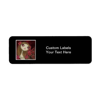 Dark Fairy Tale Character 8 Return Address Label