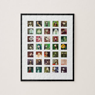 Dark Fairy Tale Character Collage Jigsaw Puzzle