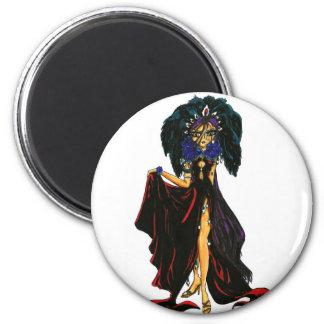 Dark Feather Fridge Magnet