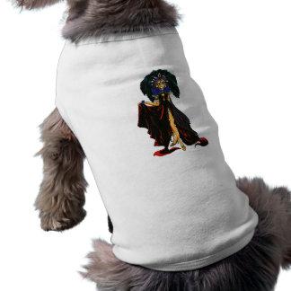 Dark Feather Sleeveless Dog Shirt