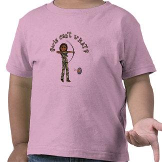 Dark Female Archery in Camouflage T Shirts
