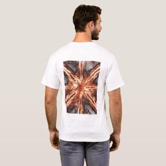 Dark Flame Vortex Men's White T-shirt