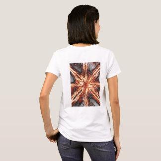 Dark Flame Vortex Women's White T-shirt