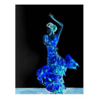 Dark Flamenco. Postcard