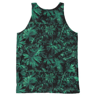 Dark Flora Photo All-Over Print Singlet