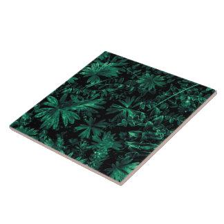 Dark Flora Photo Ceramic Tile
