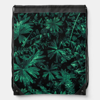 Dark Flora Photo Drawstring Bag