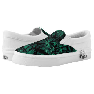 Dark Flora Photo Printed Shoes