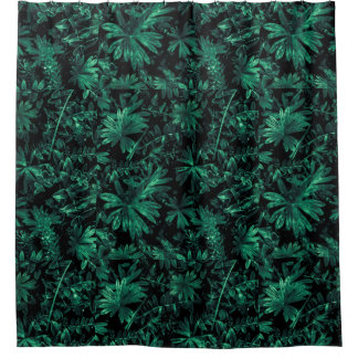 Dark Flora Photo Shower Curtain