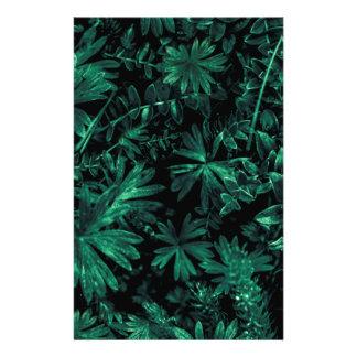 Dark Flora Photo Stationery Paper