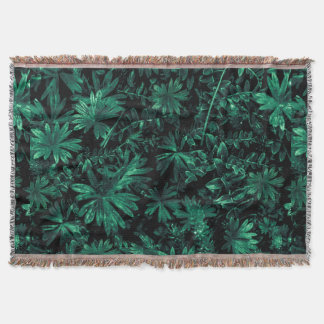 Dark Flora Photo Throw Blanket