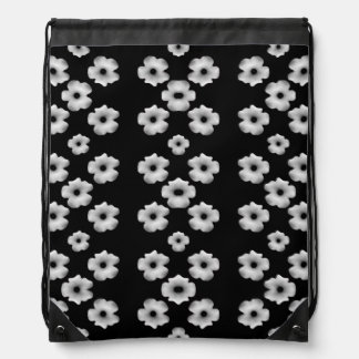 Dark Floral Drawstring Bag