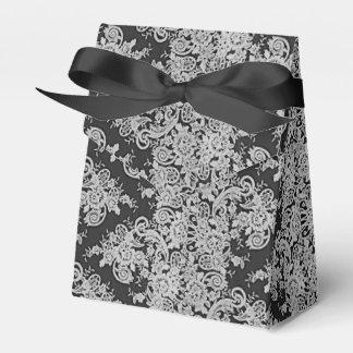 Dark Floral Fine Lace Texture Wedding Favor Box Favour Box