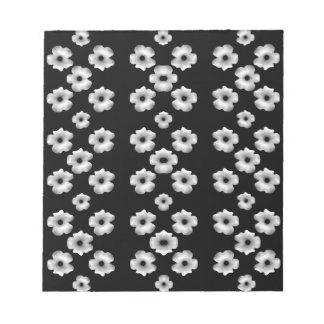 Dark Floral Notepad