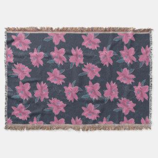 Dark floral pink lush flowers pattern