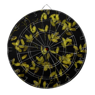 Dark Floral Print Dart Board