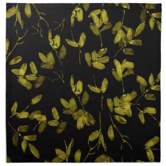 Dark Floral Print Napkin