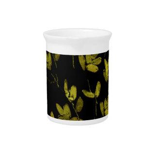 Dark Floral Print Pitcher