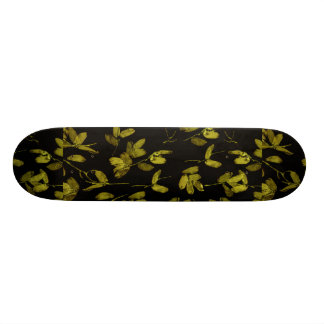 Dark Floral Print Skate Board Decks