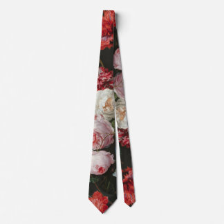Dark Floral Still Life Tie