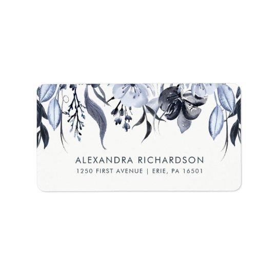 Dark Floral | Watercolor Wedding Label