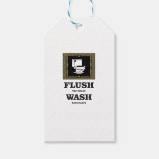 dark flush wash sign