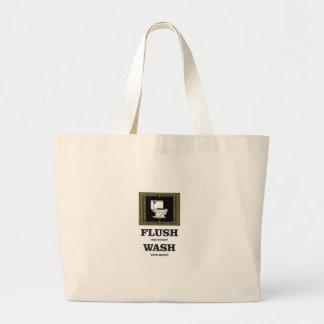 dark flush wash sign large tote bag