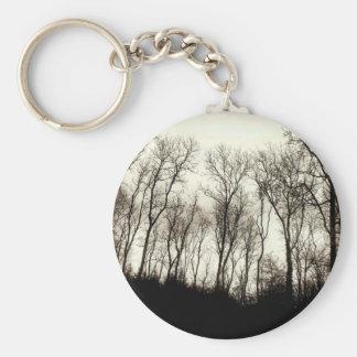 Dark forest key chain