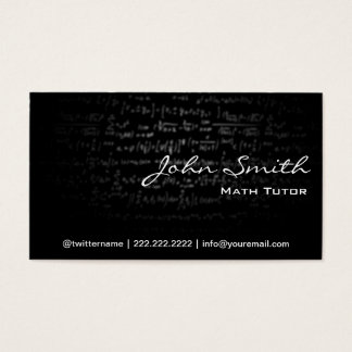 Dark Formulas Math Tutor Business Card
