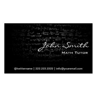 Dark Formulas Math Tutor Business Card