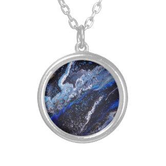 Dark Galaxy Silver Plated Necklace