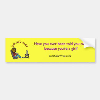Dark Gamer Girl Bumper Sticker