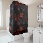 Dark Garden Fractal Shower Curtain