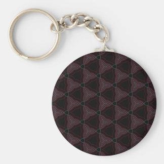 Dark Gem Triangular Pattern Keychains