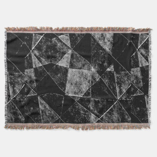 Dark Geometric Grunge Pattern Print