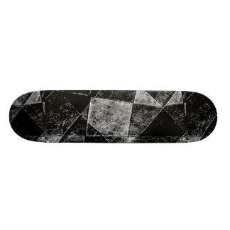 Dark Geometric Grunge Pattern Print 21.3 Cm Mini Skateboard Deck
