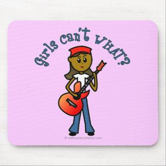 Dark Girl Playing Guitar Mousepad