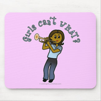 Dark Girl Playing Trumpet Mouse Pads