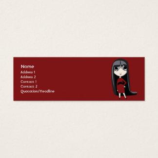 Dark Girl - Skinny Mini Business Card