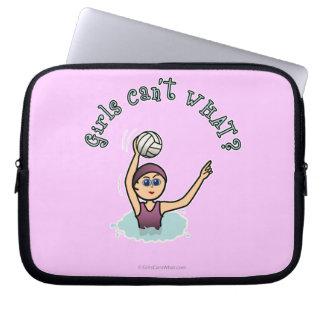 Dark Girl Water Polo Player Computer Sleeve