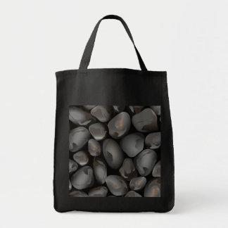 Dark glossy pebbles tote bag