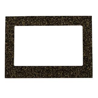 Dark gold glitter magnetic picture frame