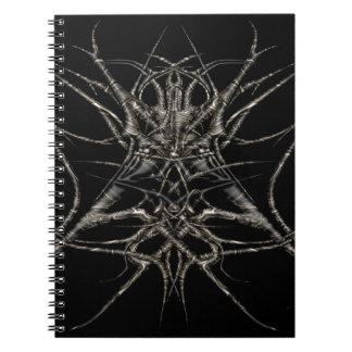 dark gold notebook