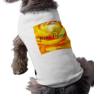 Dark Gold Sleeveless Dog Shirt
