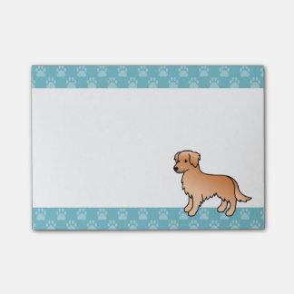 Dark Golden Retriever Dog Post-it Notes
