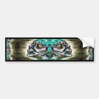 Dark Gothic Face Charcoal Drawing Bumper Sticker